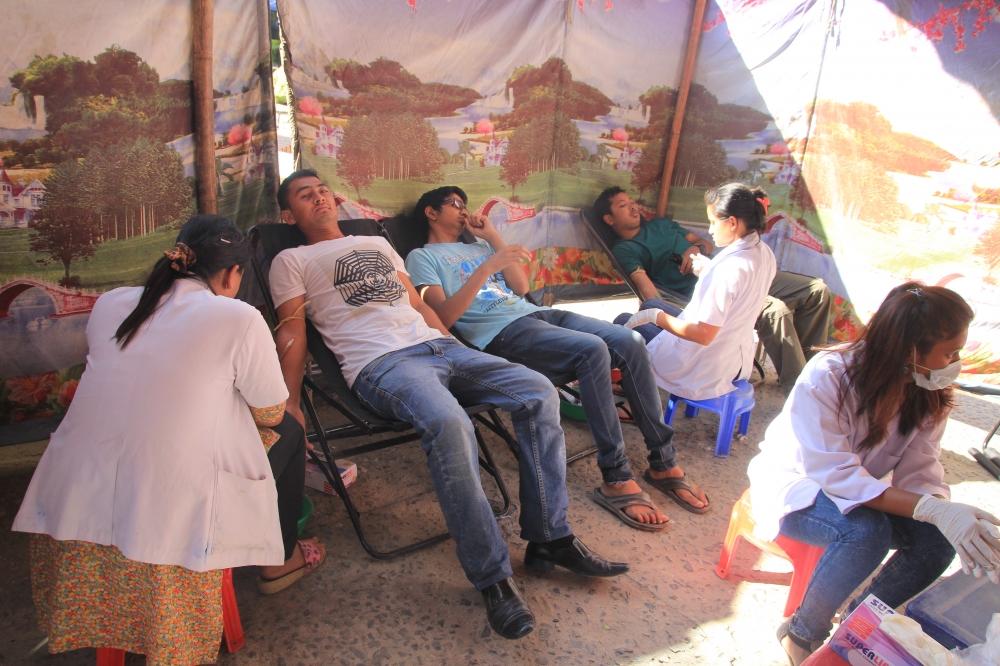 Blood Donation Program during 8th BI Day