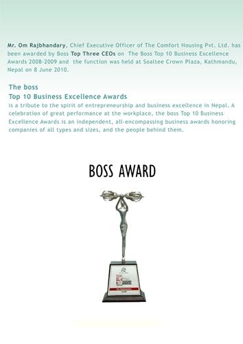 Boss Award June 8, 2010